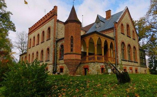 фотография латвийского замка Звартава