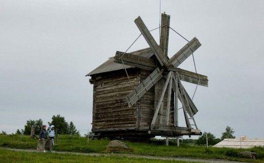 Кижская ветряная мельница фото