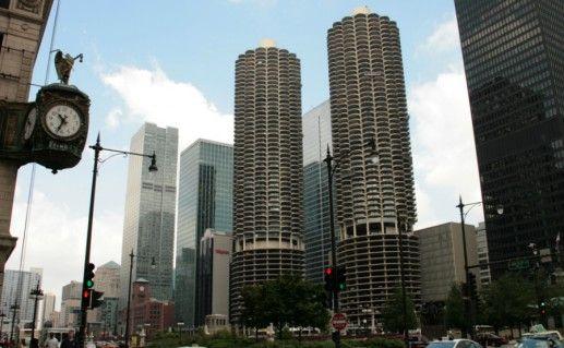 Чикагский Marina City фото