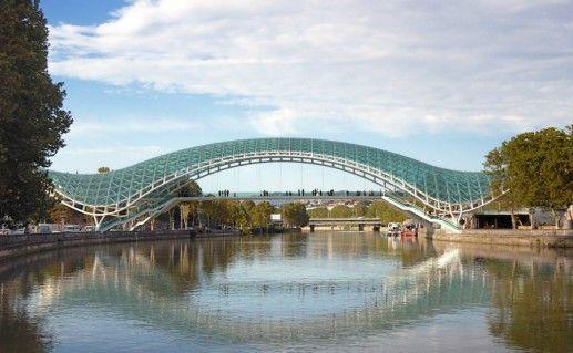 Фотография мост Мира в Грузии
