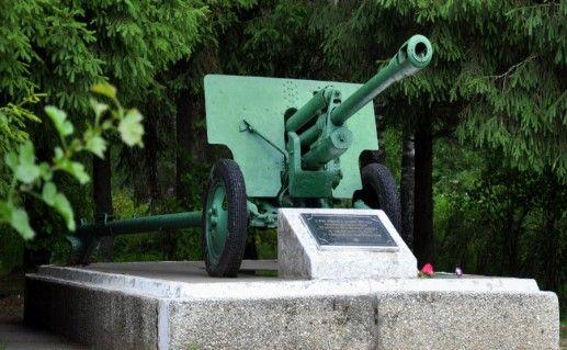 Памятник «Пушка» в Тихвине фото