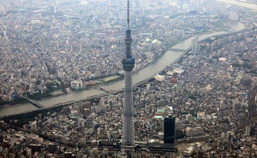 Фото телебашня Tokyo Tower