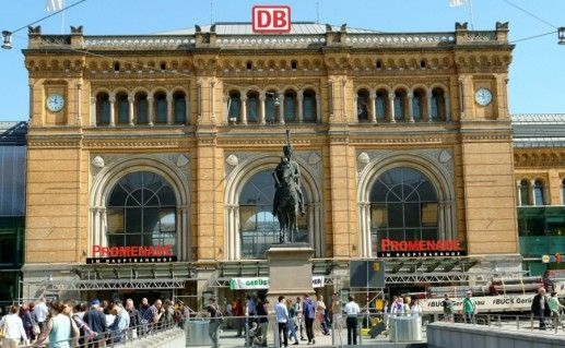 Железнодорожный вокзал Ганновера фото