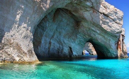 фото Голубых пещер в Закинфе