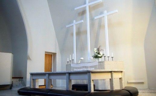 церковь Трех крестов в Иматре фотография