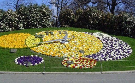 фотография женевских цветочных часов