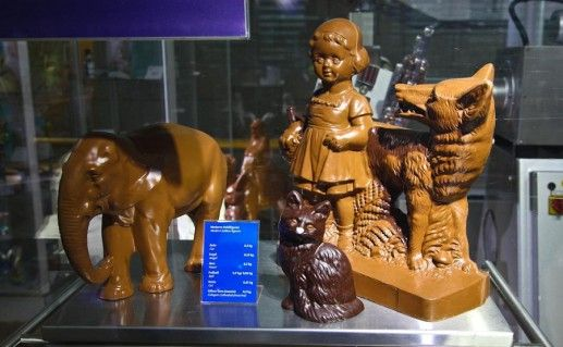 экспонаты музея шоколада в Кельне фотография