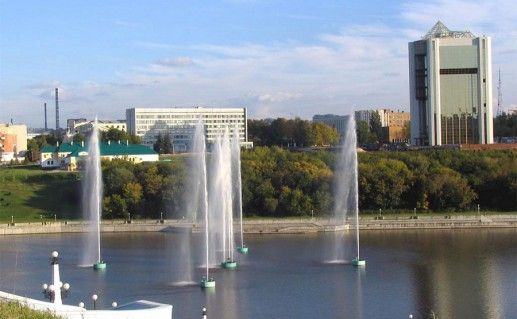 фонтаны Чебоксарского залива фотография