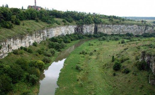 фото каньона реки Смотрич в Каменец-Подольском