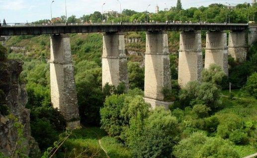 Новоплановский мост в Каменец-Подольском фотография