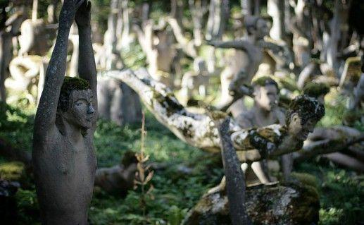 фото парка скульптур в Иматре