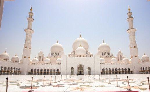фотография вида на мечеть Шейха Зайда в Абу-Даби