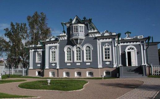 фотография вида на музей декабристов в Иркутске
