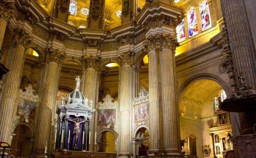 Кафедральный собор в Малаге вид внутри фото