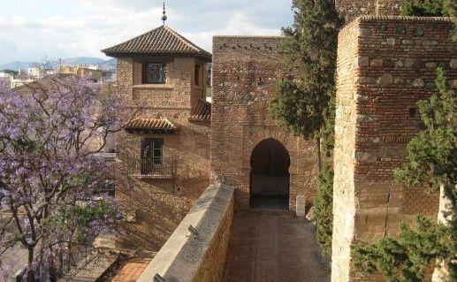 фото крепости Алькасаба в Малаге