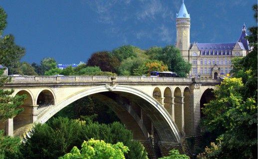 фотография моста Адольфа в Люксембурге
