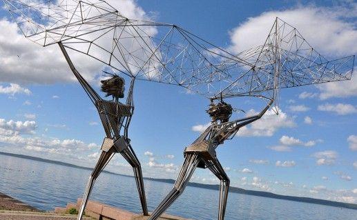 петрозаводский памятник Рыбаки фотография