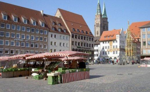 площадь Хауптмаркт в Нюрнберге фотография