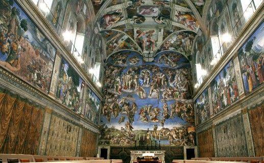 Сикстинская Капелла  в Ватикане вид внутри фото