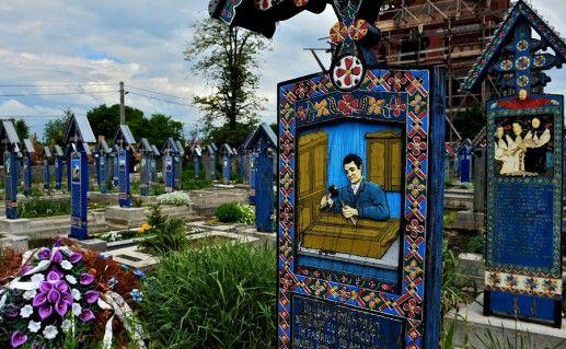 румынское Веселое кладбище фото