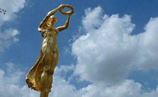 фото памятника Золотая Фрау в Люксембурге